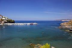 Overzeese mening over het Eiland van Kreta Royalty-vrije Stock Foto