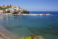 Overzeese mening over het Eiland van Kreta Royalty-vrije Stock Fotografie