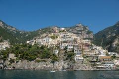 Overzeese mening over Positano Royalty-vrije Stock Afbeeldingen