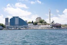 Overzeese mening van de stad van Sebastopol royalty-vrije stock afbeeldingen