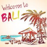 Overzeese mening van de toevlucht van Bali royalty-vrije illustratie