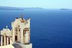 Overzeese Mening van Oia, Santorini Stock Afbeeldingen