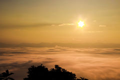 Overzeese mist, nan provincies - nan Thailand stock foto's