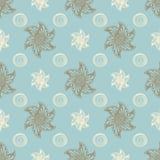 Overzeese naadloze patroon blauwe achtergrond Stock Fotografie