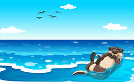 Overzeese otter stock illustratie