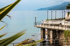 Overzeese promenade royalty-vrije stock fotografie