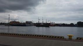 """Overzeese reis in het Poolse overzees van GdaÅ """"sk Royalty-vrije Stock Foto's"""