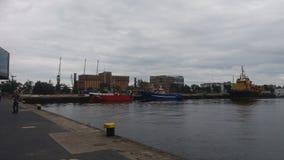 Overzeese reis in het Poolse overzees van Gdynia Stock Foto