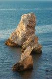 Overzeese rots stock afbeeldingen