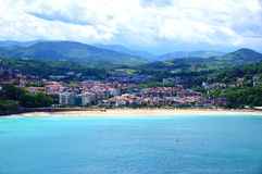 Overzeese San-Sebastina kust Royalty-vrije Stock Afbeeldingen