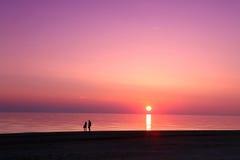 Overzeese scape scène in de Oceaan, strandoceaan Stock Fotografie