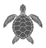 Overzeese schildpad vector illustratie