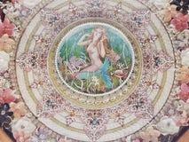 Overzeese shell, kunst, assemblage, de Bermudas Royalty-vrije Stock Foto's