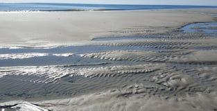 Overzeese Shells bij het overzeese zand Royalty-vrije Stock Foto's