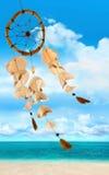 Overzeese shells die in de wind blazen royalty-vrije stock afbeeldingen