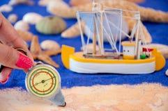 Overzeese shells en zeester royalty-vrije stock foto