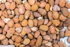 Overzeese stenen achtergrondsinaasappel Royalty-vrije Stock Fotografie