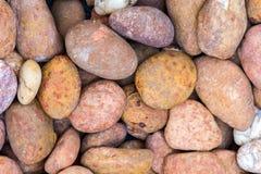 Overzeese stenen achtergrondsinaasappel Royalty-vrije Stock Afbeelding