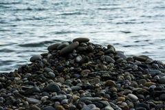 Overzeese stenen, kiezelstenen royalty-vrije stock fotografie