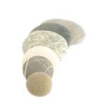 Overzeese stenen op wit Royalty-vrije Stock Foto