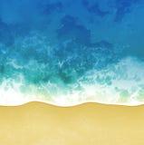 Overzeese strand vectorachtergrond Stock Foto's
