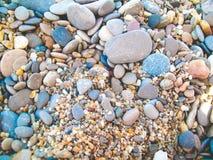 Overzeese strandstenen Stock Foto's
