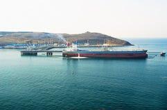 Overzeese tanker stock foto's