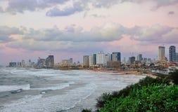 Overzeese tel.-Avive kust Stock Afbeeldingen