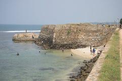 Overzeese van bastiontriton vesting Galle, Sri Lanka Royalty-vrije Stock Foto's
