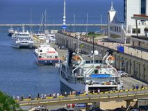 Overzeese van de passagier haven Royalty-vrije Stock Foto's