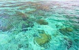 Overzeese van het aquamarijn oppervlakte Stock Afbeelding