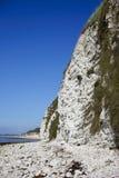 Overzeese van het kalksteen klippen Royalty-vrije Stock Fotografie