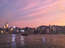 Overzeese van Hong Kong mooie mening royalty-vrije stock fotografie