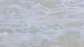 Overzeese of van Indische Oceaan golven op het strand van Seychellen stock videobeelden