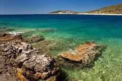 Overzeese van Kroatië kust Stock Foto's