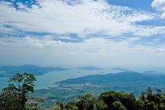 Overzeese van Langkawi heuvelhemel Stock Afbeelding