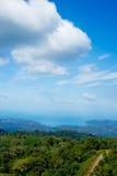 Overzeese van Langkawi heuvelhemel Royalty-vrije Stock Fotografie