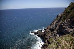 Overzeese van Maui klippen royalty-vrije stock fotografie