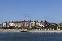 Overzeese van Southwold Voorzijde, Suffolk, Engeland Stock Afbeelding