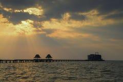 Overzeese van Thailand brug stock fotografie