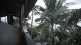 Overzeese van Timelapsethailand islalnd strandhuizen, de wilde boom van de bergenaard en palm stock videobeelden