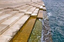 Overzeese van Zadar organen - die door de overzeese stroom worden aangedreven Royalty-vrije Stock Foto