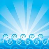 Overzeese vectorachtergrond Stock Fotografie