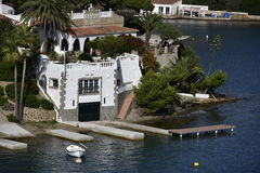 Overzeese Villa, Menorca, Spanje Stock Foto