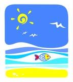Overzeese vissen vector illustratie