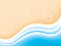 Overzeese zand en golven. Het conceptenachtergrond van de vakantie Royalty-vrije Stock Foto