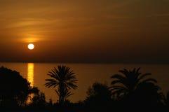 Overzeese zonsondergang. Royalty-vrije Stock Fotografie