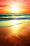 Overzeese zonsondergang stock foto