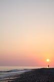 Overzeese zonsondergang Stock Fotografie