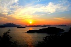 Overzeese zonsondergang Stock Afbeelding